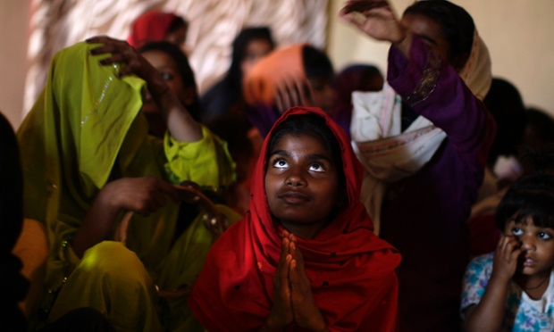 Indian girl in prayer