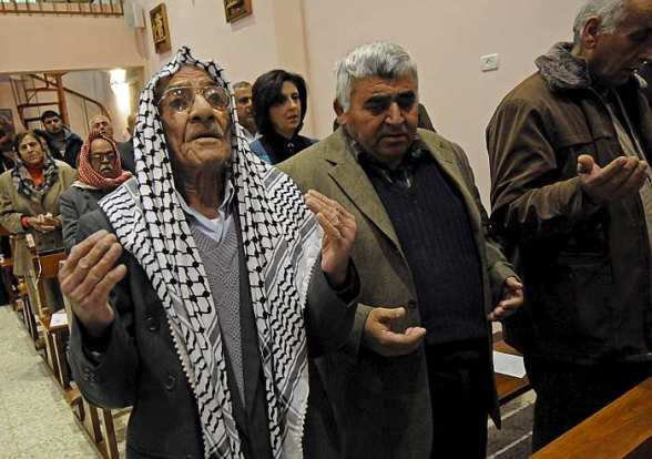 Prayer in a Middle Eastern church