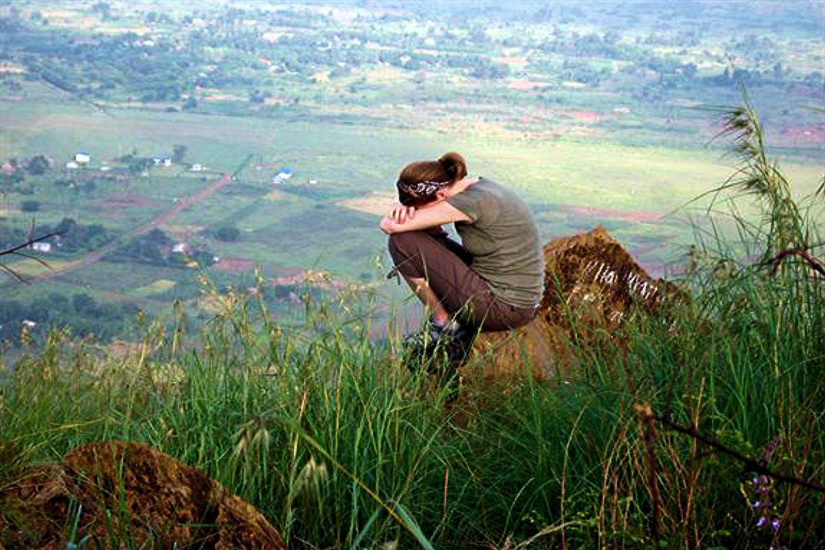 Prayer on the hillside of Scotland
